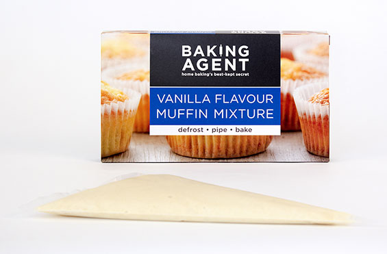 Muffin mix for ready made vanilla muffins