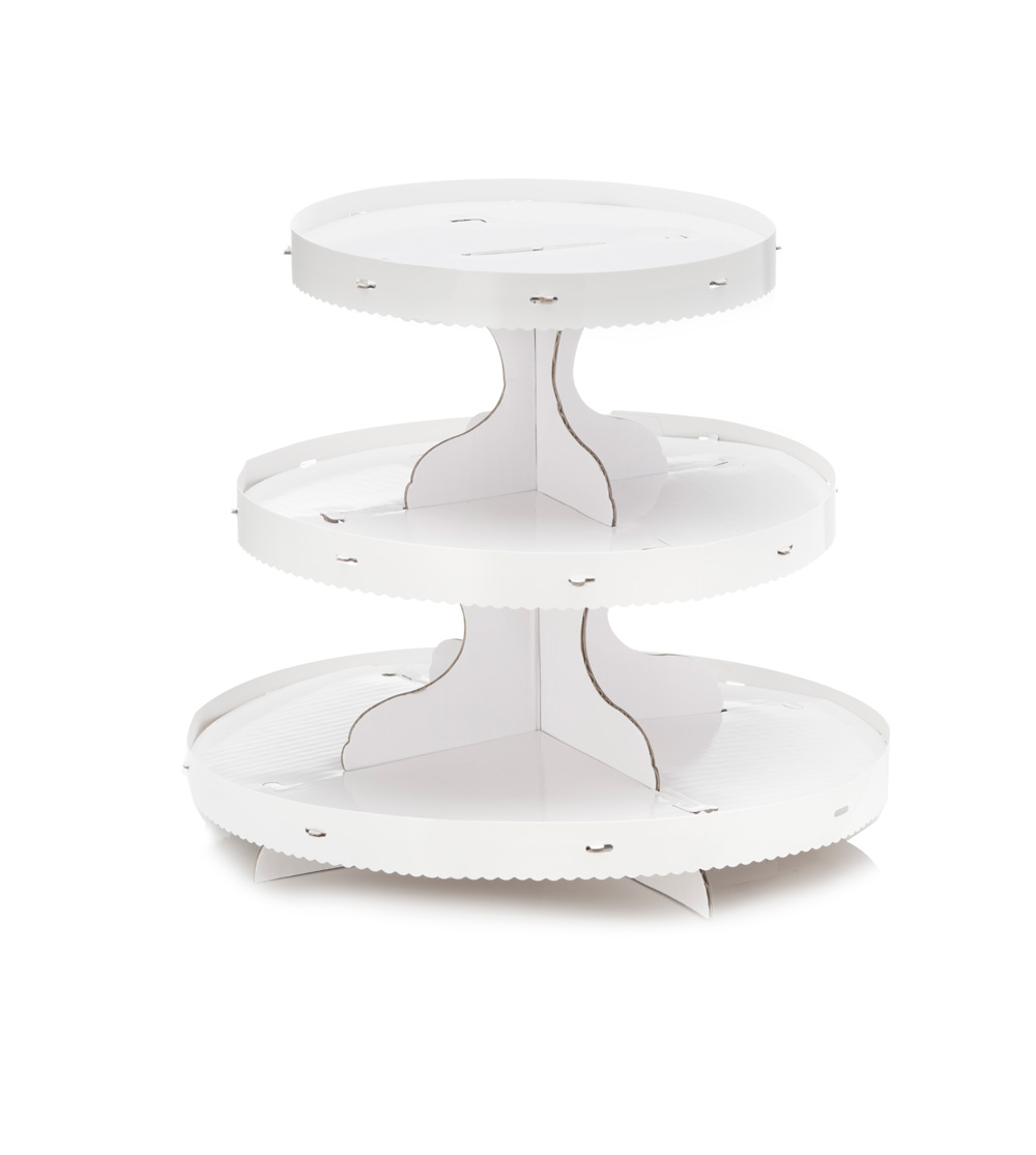 Baking Accessories; 3 tier cardboard cupcake stand