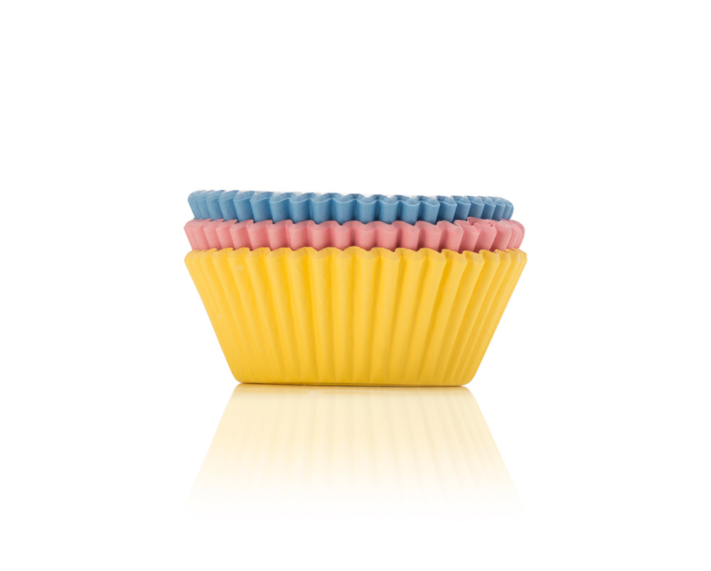Pastel coloured cupcake cases