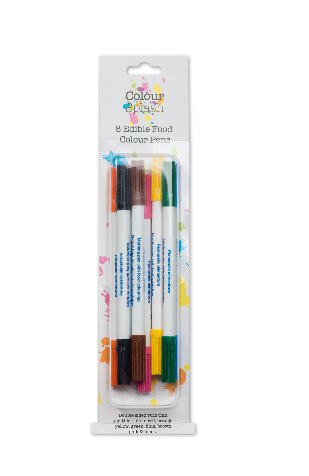 Easy baking; 8 x coloured food writing pens for cookies