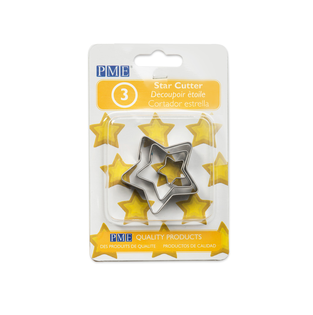 Baking accessories; star shaped cookie cutter set